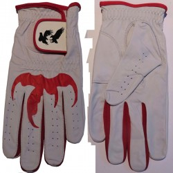 "Leather ""Talon"" Golf Glove Red Trim"