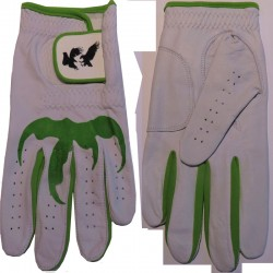 "Leather ""Talon"" Golf Glove Green Trim"