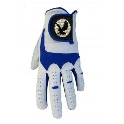 "Leather ""Eagle"" Golf Glove Blue Trim"