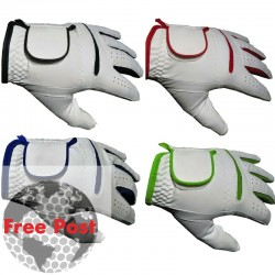 All Weather White Golf Glove- Choice Of Coloured Trim