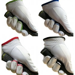 White Leather Golf Glove- Choice of Coloured Trim