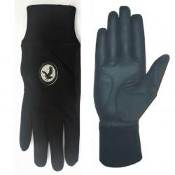 Black Winter Golf Glove Pair
