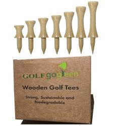 Natural Wood Castle Tee Packs