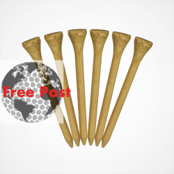 Bamboo Wood Straight Golf Tees
