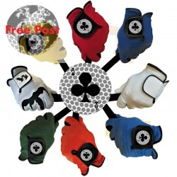 100% Sheep Leather Glove, Coloured Ace Design
