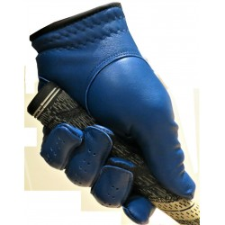 Navy Blue Leather Golf Glove