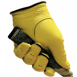Yellow Leather Golf Glove
