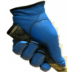 Sky Blue Leather Golf Glove