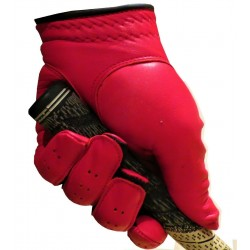 Red Leather Golf Glove