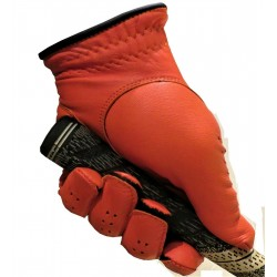 Orange Leather Golf Glove