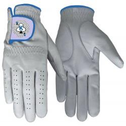Leather Golf Glove Blue Trim