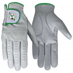 Leather Golf Glove Green Trim