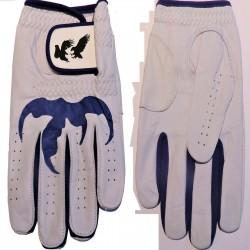 "Leather ""Talon"" Golf Glove Purple Trim"