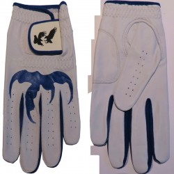 "Leather ""Talon"" Golf Glove Blue Trim"